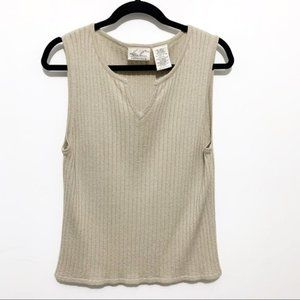 Kathie Lee Collection sleeveless tan tank top